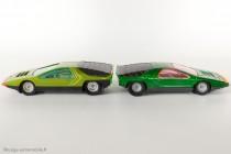 Alfa Romeo Carabo Bertone - Dinky Toys réf. 1426 et Solido réf. 172