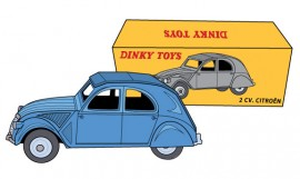 Mes Dinky par Rémy Simard - Illustration de 4CV Dinky Toys