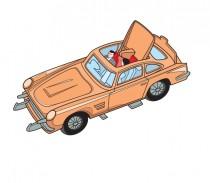 Mes Dinky par Rémy Simard - Illustration Aston Martin James Bond Corgi Toys
