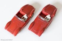 Dinky Toys 22A et 505 - Maserati 2000 sport - nuances visibles de rouge