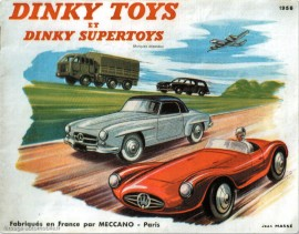 Catalogue Dinky Toys 1958, en couverture la Maserati 2000 sport