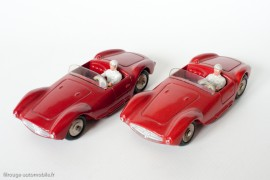 Dinky Toys 22A et 505 - Maserati 2000 sport - roues convexes et roues concaves