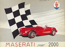 Maserati A6GCS - catalogue Maserati de 1953
