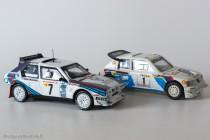 Lancia Delta S4 - Ixo Models pour Altaya & Peugeot 205 Turbo 16 évolution - Vitesse