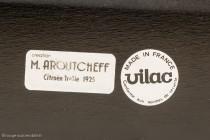 Citroën Trèfle 1925 - Vilac / Aroutcheff : les autocollants sous le châssis
