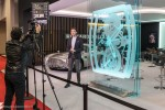 Grégory Galiffi en tournage pour Direct 8 auto - Rétromobile 2016