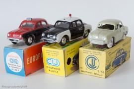 Renault Dauphine Taxi, Police et berline de 1956, - C.I.J réf. 3/56T, 3/57 et 3/56