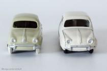 Renault Dauphine de 1956 - C.I.J réf. 3/56 et Dinky Toys 24E