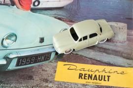 Renault Dauphine de 1956 - C.I.J réf. 3/56 sur catalogue Renault