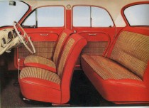 Catalogue publicitaire Renault Dauphine, l'habitacle