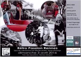 Affiche Rétro Passion Rennes 2016