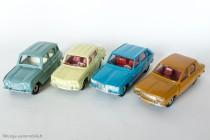 Les 4 Dinky Toys Renault sorties en simultané avec la vraie voiture