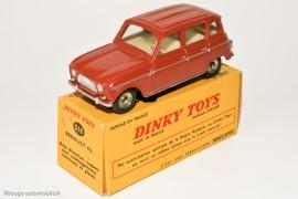 """Dinky Toys 518 - Renault 4L berline - boite avec indication """"par autorisation spéciale de la Régie Renault, ce Dinky Toys est sorti en même temps que la vraie voiture"""""""