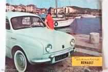 Catalogue publicitaire Renault Dauphine 1959