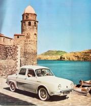 Catalogue publicitaire Renault Dauphine, à Collioure