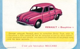 Renault Dauphine - Dinky Toys 24 E - Meccano magazine juin 1957