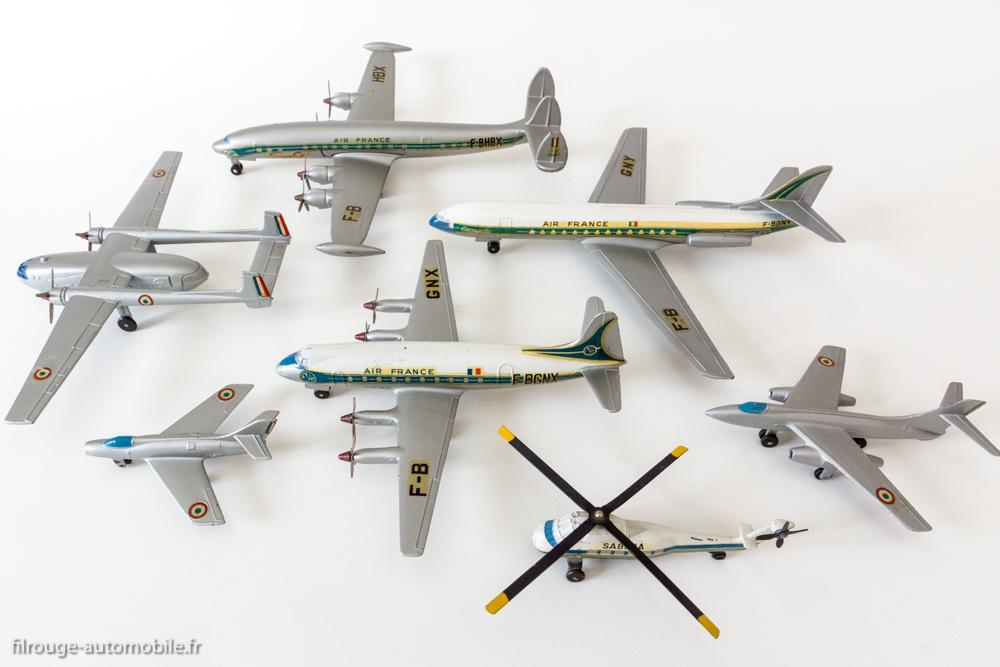 Les avions Dinky Toys série 60 - Les 7 modèles réunis