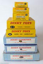 Les avions Dinky Toys série 60 - Boites des 7 modèles (2 variantes pour la caravelle)
