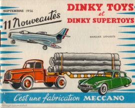 Catalogue Dinky toys 1956 - Le mystère IV en couverture