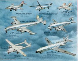 La gamme des avions Dinky Toys après-guerre - Catalogue 1960
