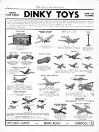 Meccano Magazine 1938 - La gamme des avions