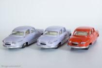 Panhard PL 17 - Dinky Toys réf. 547 - les 3 variantes