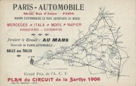 Grand Prix de l'ACF 1906 - Le Circuit de la Sarthe