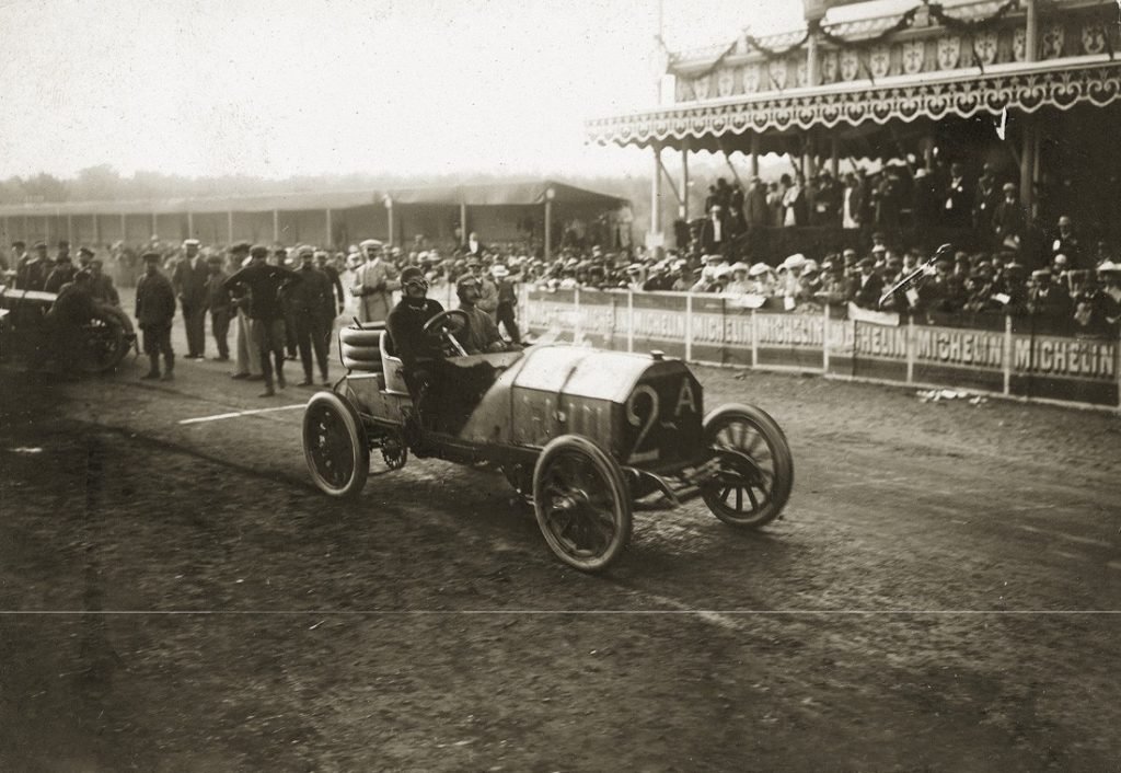 Grand Prix de l'ACF 1906 - Vincenzo Lancia sur Fiat n°2A