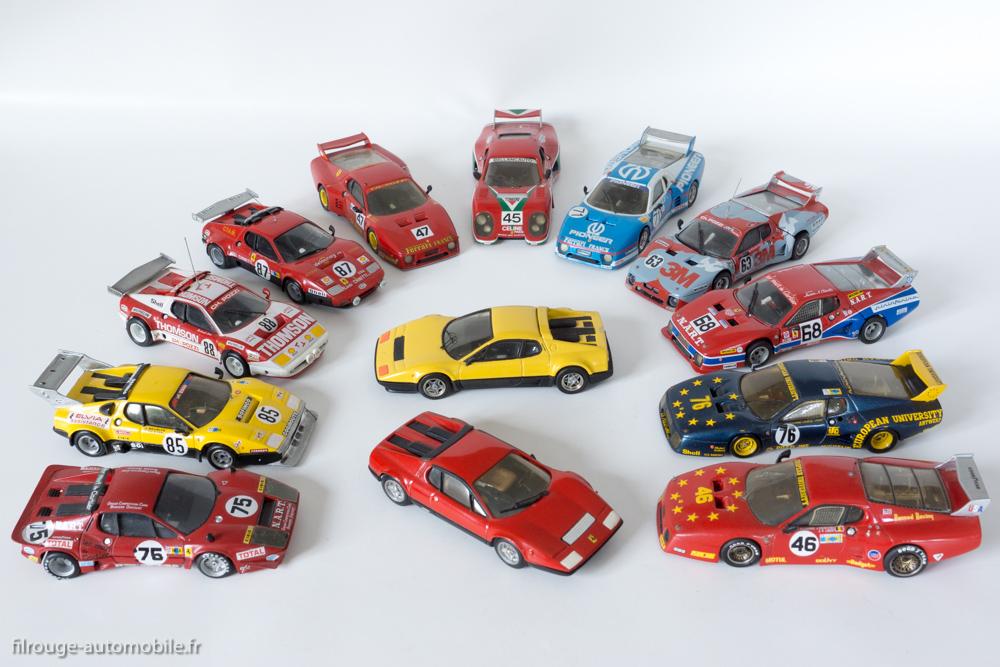 24 Heures du Mans 1977 à 1982 - Les Ferrari 365 GT4 BB et 512 BB - 1/43ème  AMR