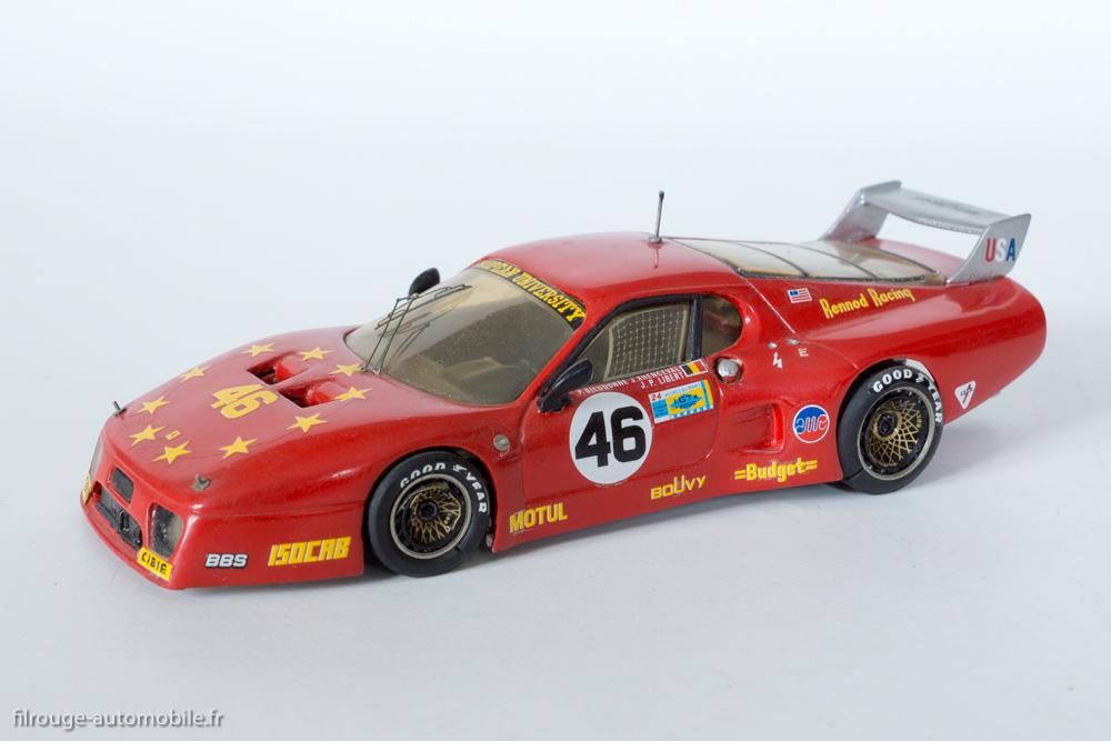 24 Heures du Mans 1981 - Ferrari 512 BB 9ème - 1/43ème  AMR