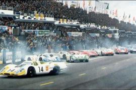 Départ des 24 Heures du Mans 1969, la Porsche 917 de Stommelen en tête - photo 1969