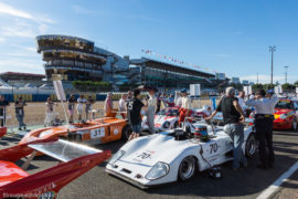 Le Mans Classic 2016 - ambiance pré-grille - Lola T292 BMW 1973 n°70 et Chevron B31 1975 n°31