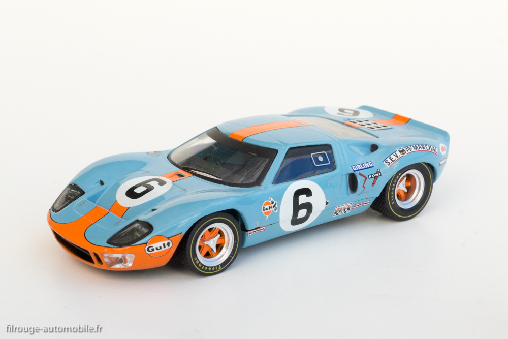 une voiture une miniature ford gt 40 1er aux 24 heures du mans 1969 filrouge automobile. Black Bedroom Furniture Sets. Home Design Ideas