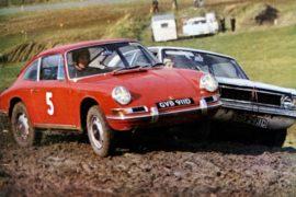 1er Rallycross en 1967 - vainqueur Vic Elford sur Porsche 911 n°5 - crédit photo : ELA/ERC24