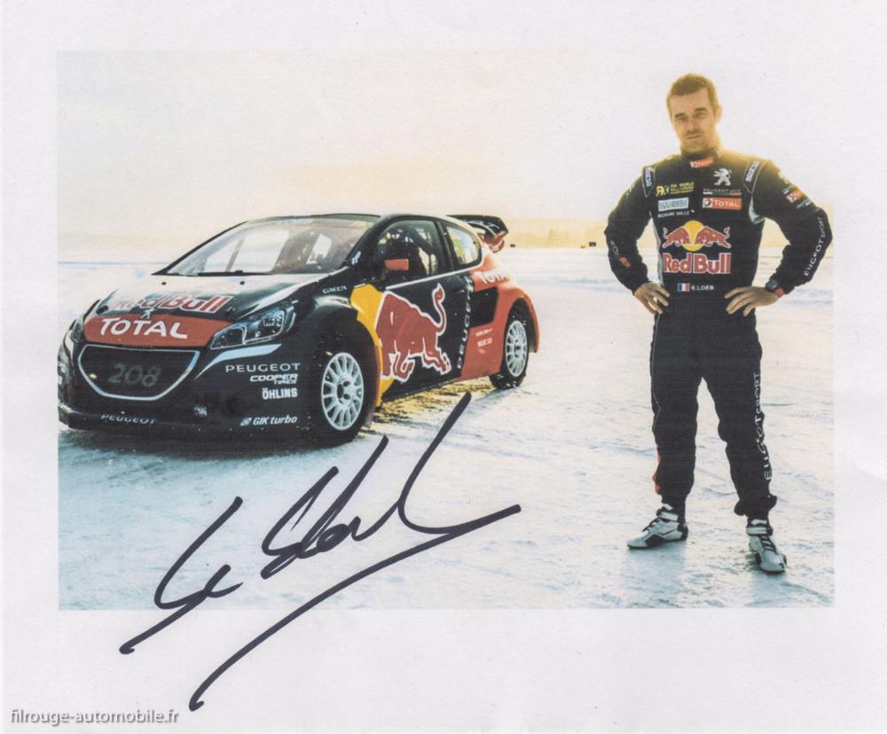 Autographe de Sébastien Loeb