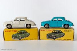 Renault Dauphine - Dinky Toys 24 E et 524 - sans puis avec glaces