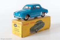 "Renault Dauphine - Dinky Toys 524 - variante n°3 - avec vitres et bleu vif ""Bobigny"""