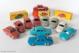 Renault Dauphine - Dinky Toys 24 E, 524 et 268 - Présentation des 4 variantes et de la version anglaise