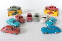 Renault Dauphine - Dinky Toys 24 E et 524 - Présentation des 4 variantes