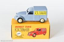 """Citroën 2CV fourgonnette """"Bébé Lorrain"""" - ici version Dinky Atlas qui est un code 1, l'original est un code 2"""