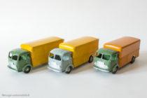 Dinky Toys réf. 33A - Simca Cargo fourgon - deux coloris de base et un colori anormal