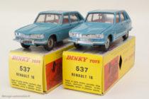 Dinky Toys ref. 537 - Renault 16 - avec détails argentés et anormalement sans , code 1