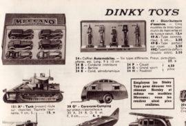 Catalogue Meccano 1938 - extrait avec coffret automobiles rèf. 24
