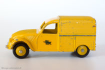 Dinky Toys réf. 560 - Citroën 2CV fourgonnette postale - jantes convexes anormales - code 1