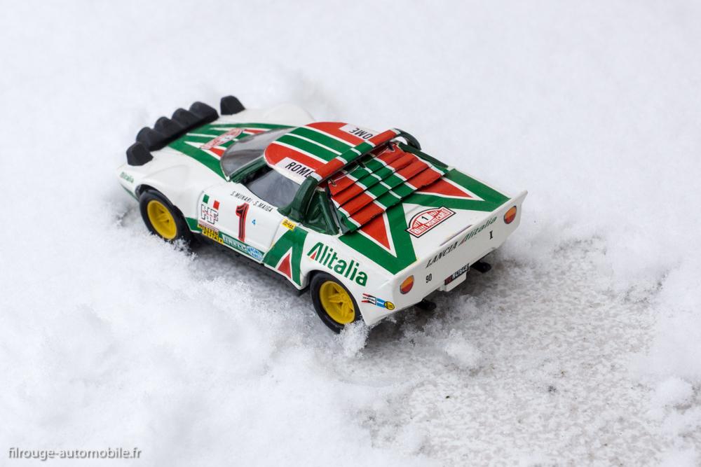 Lancia Stratos HF (sur la neige) - 1ère du Rallye Monte Carlo 1977 - Solido réf. 73
