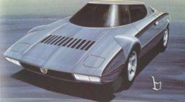 Lancia Stratos - Dessin Bertone