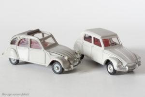 Dinky Toys France Réf. 1413 - Citroën Dyane & Dinky Toys France Réf. 500 - Citroën 2 CV