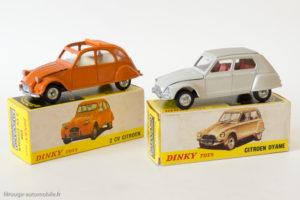 Dinky Toys Espagne Réf. 1413 - Citroën Dyane & Dinky Toys Espagne Réf. 500 - Citroën 2 CV