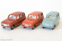 Dinky Toys 518 - Renault 4L - marron, brique et bleu gris