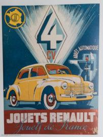 Renault 4 CV - C.I.J. - Affiche publicitaire de l'époque